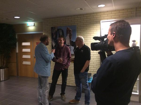 Interview voor de DVD van Perron Geluk, samen met regisseur Eddy Haers.